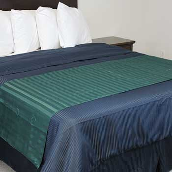 Top Sheet with Integrated Scarf